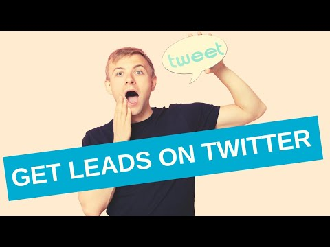 How to generate leads on Twitter without spending a penny on paid ads (free business training)