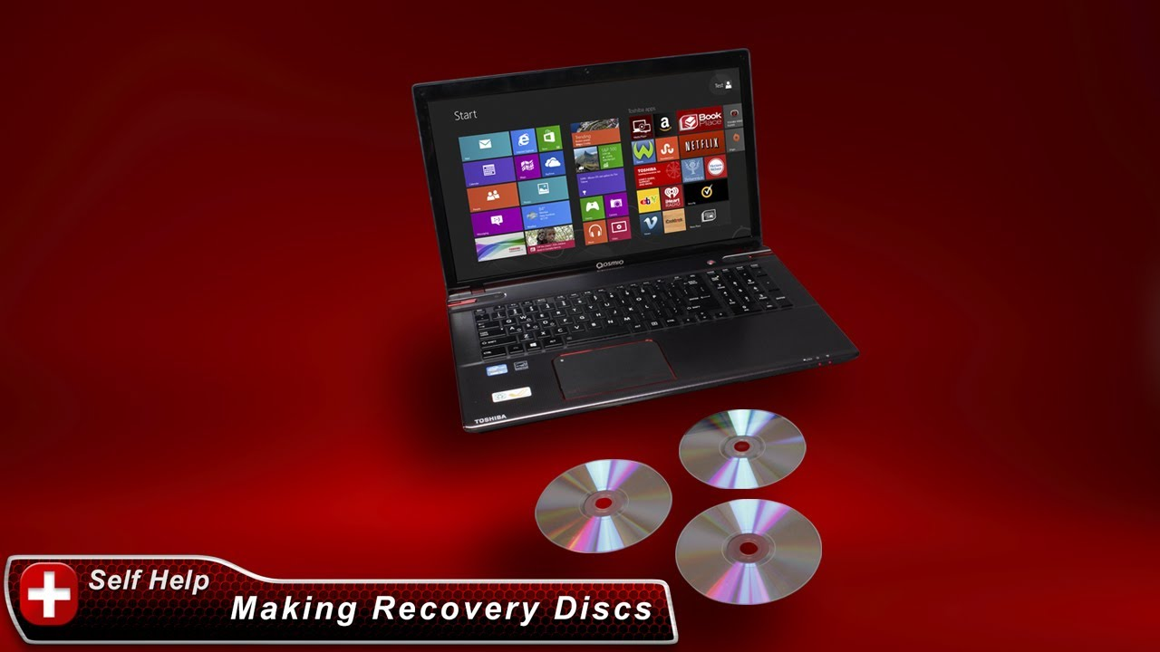 Toshiba How-To: Create System Recovery Media DVDs on a Windows 8