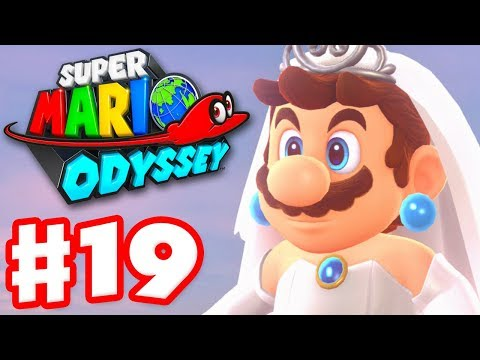 Super Mario Odyssey - Gameplay Walkthrough Part 19 - Amiibo and Cloud Kingdom 100% (Nintendo Switch)