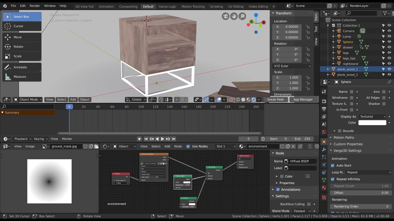 Verge3D for Blender Basics - Part 1 - Creating New Project