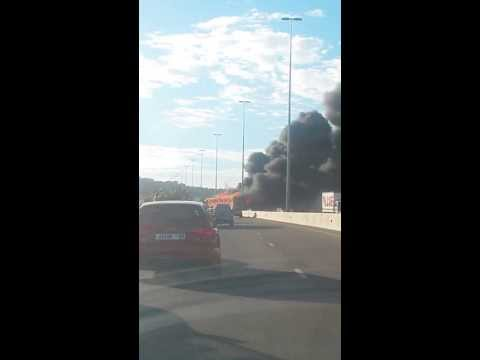 N1 Bus on fire
