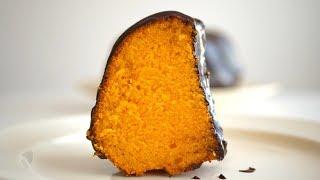 """Нежный морковный кекс """"Бразильский""""/ Bolo de cenoura. Яркий, умеренно влажный и очень вкусный"""