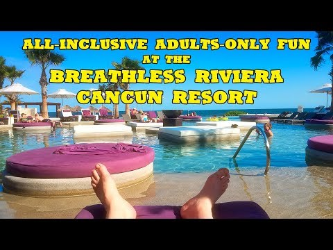 All-Inclusive Adults-Only Fun At The Breathless Riviera Cancun Resort And Spa! Xhale Swim-Out Suite.