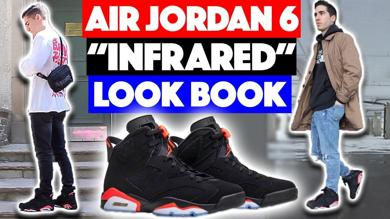 02f372455a80 HOW TO STYLE  Air Jordan 6  Black Infrared  - Outfit Ideas - YouTube
