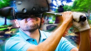 GO IN THE HOLE! | Cloudlands VR Minigolf (HTC Vive Virtual Reality) #1