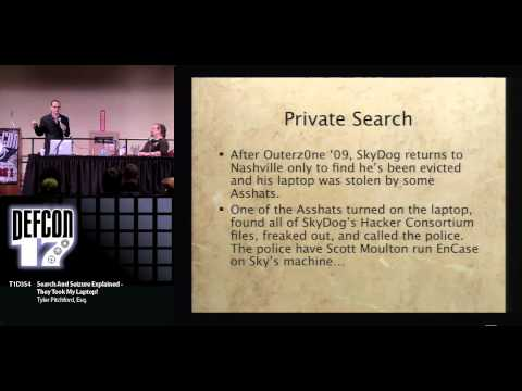DEFCON 17: Search And Seizure Explained - They Took My Lapto