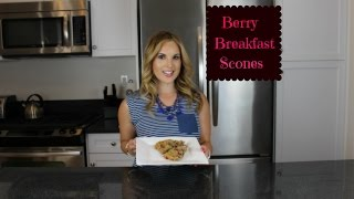 Berry Breakfast Scones-paleo Friendly