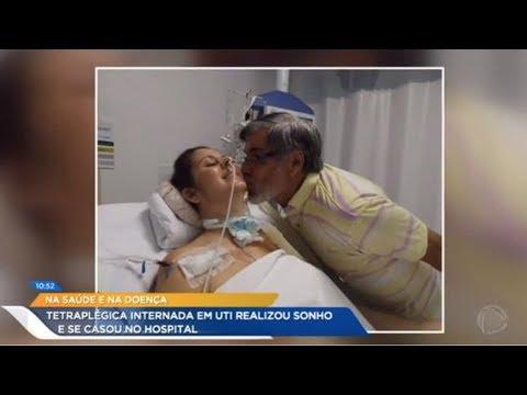 Após Sofrer Acidente De Carro E Ficar Tetraplégica, Noiva Se Casa Na UTI De Hospital