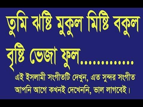 তুমি ঝষ্টি মুকুল মিষ্টি বকুল বৃষ্টি ভেজা ফুল  Tumi Josti mukul misti bokul
