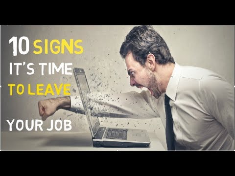 10  Signs It's Time To Leave Your Job In Hindi