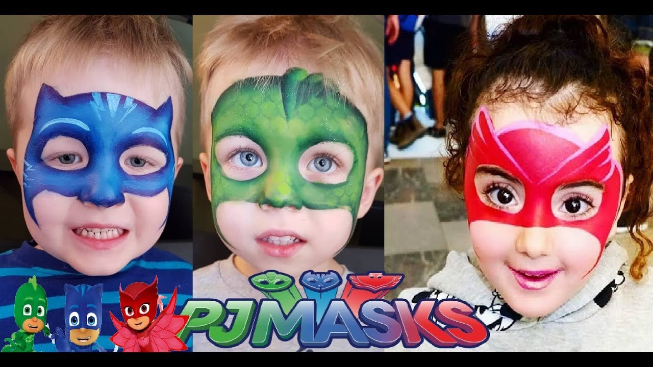 Pj Masks Pintura Facial Youtube