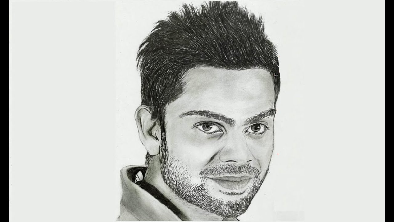 Portrait Drawing Virat Kohli - YouTube