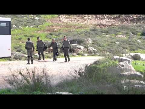"""תיעוד: פינוי מכולות מגבעות איתמר על ידי כוחות מנהל אזרחי ומג""""ב"""