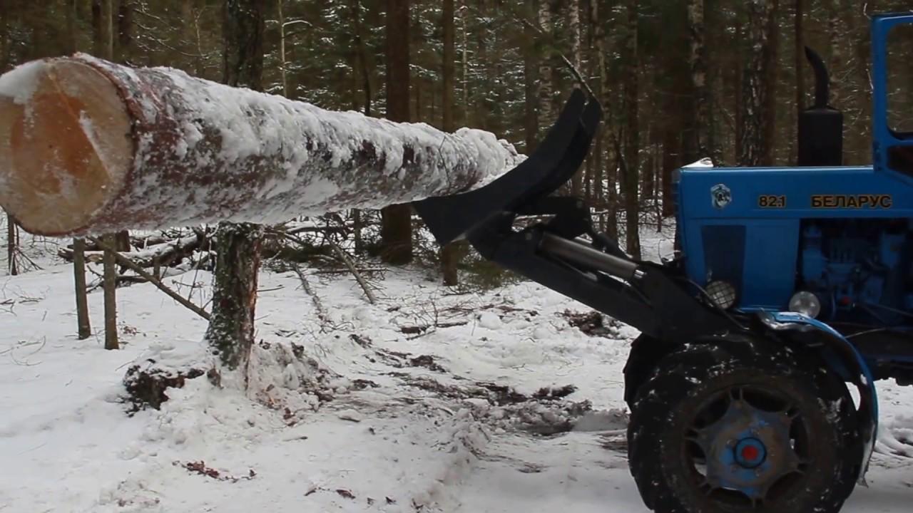 Лесной толкатель штабелер ЛТ-82/3 на МТЗ +7(926)205-90-92