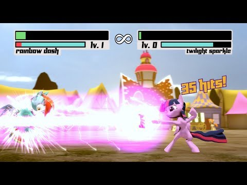Fighting Is Magic: Source Edition [Rainbow Dash Vs Twilight Sparkle] SFM