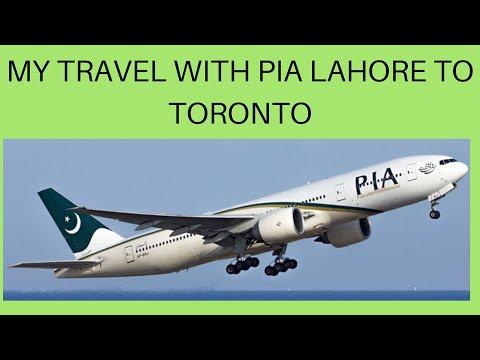 Trip To Canada With PIA | Lahore To Toronto | Winnipeg Manitoba | In Punjabi & Sub English