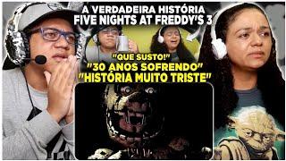 MINHA MÃE REAGINDO A VERDADEIRA HISTÓRIA DE FIVE NIGHTS AT FREDDY'S (parte 3) - HUEstation