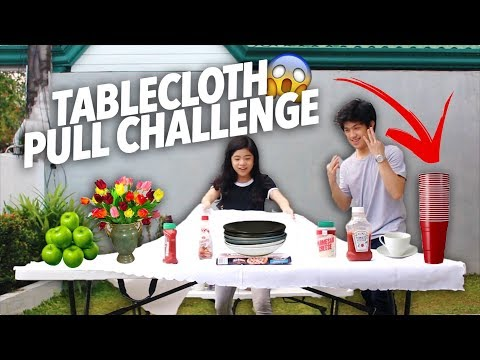 Download Youtube: TABLECLOTH PULL CHALLENGE (WE DID IT) | Ranz and Niana
