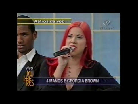 Georgia Brown e os 4 Manos - Programa Mulheres com Clodovil  TV Gazeta 2001