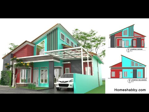 Desain Rumah Minimalis Ukuran 11,5 x 12 dengan 3 kamar ...