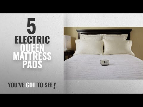 Top 10 Electric Queen Mattress Pads [2018]: Sunbeam Therapeutic Heated Mattress Pad with 6 Heat