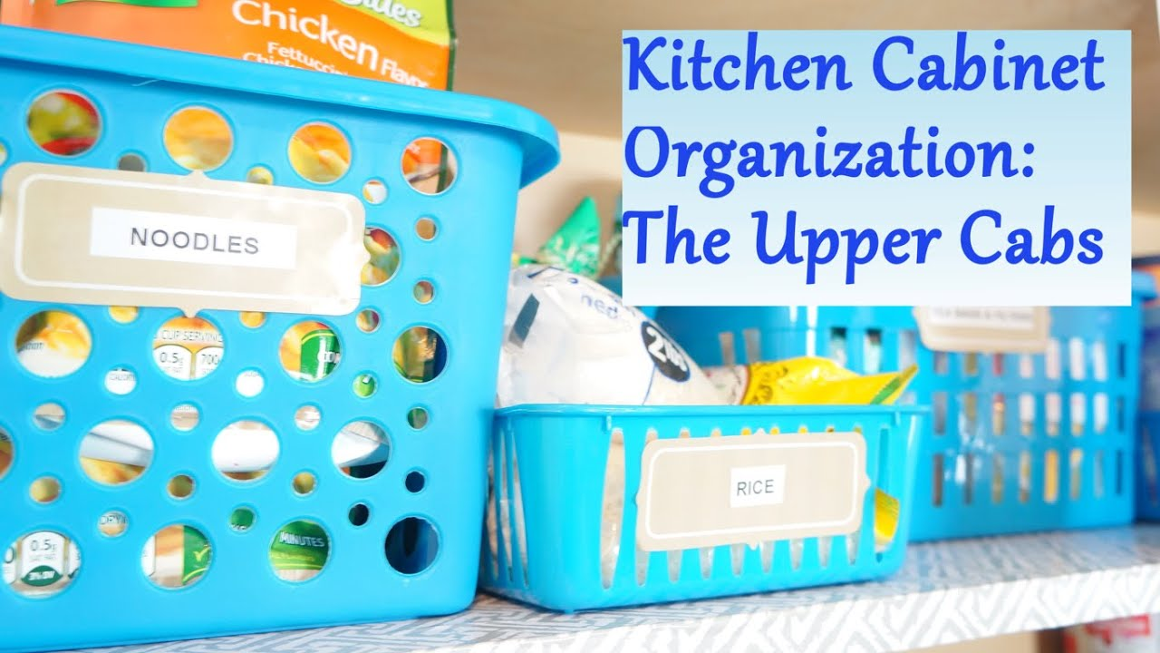 Kitchen Cabinet Organization Ideas: The Upper Cabs   YouTube