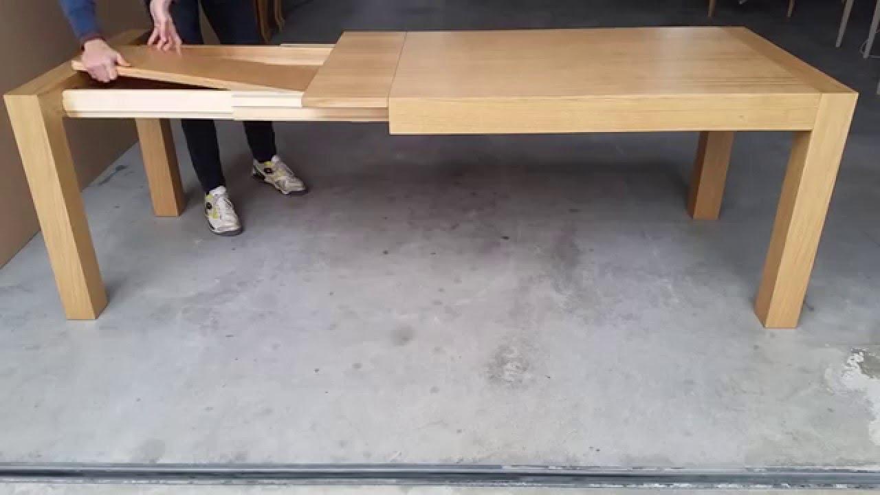tavolo allungabile moderno in legno di rovere youtube