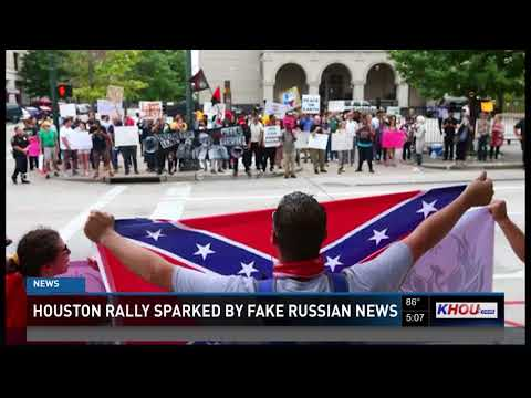 Houston rally sparked by fake Russian news
