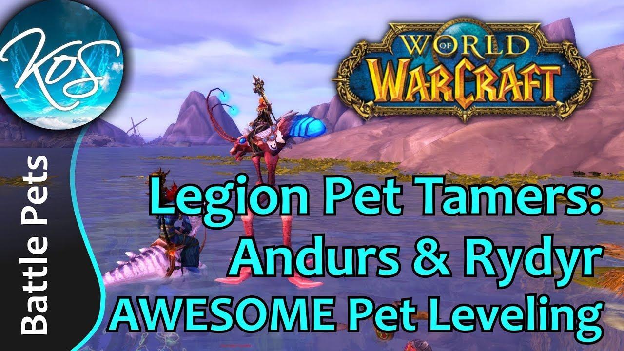 World Of Warcraft Andurs Rydyr Fast Leveling Legion Pet