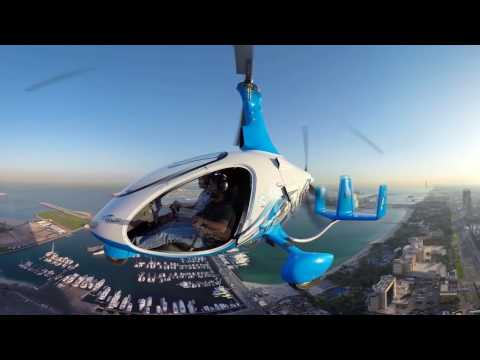 Skyhub Dubai, Gyrocopter   360 video
