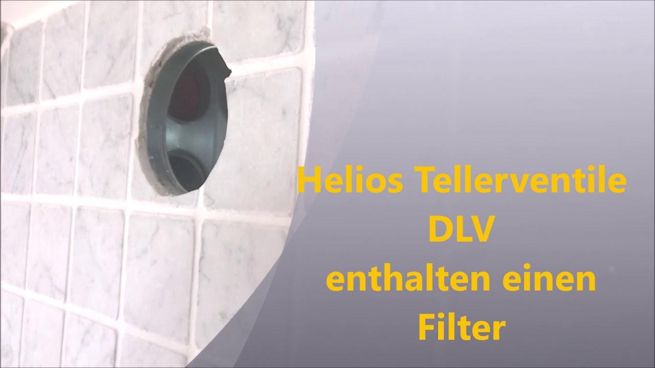 Tellerventil Abluftventil Luftventil Zuluftventil Ersetzen Austauschen Helios Dlv 100 Dlv 125 Youtube
