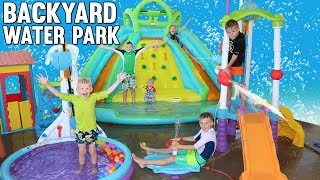 Our Backyard Turned into a WATER PARK!!