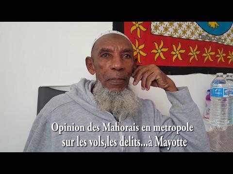Opinion des Anjouannais et Mahorais sur les vols, les délits...à Mayotte