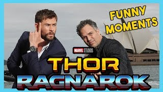 Chris Hemsworth and Mark Ruffalo Funny Moments | THOR RAGNAROK 2017