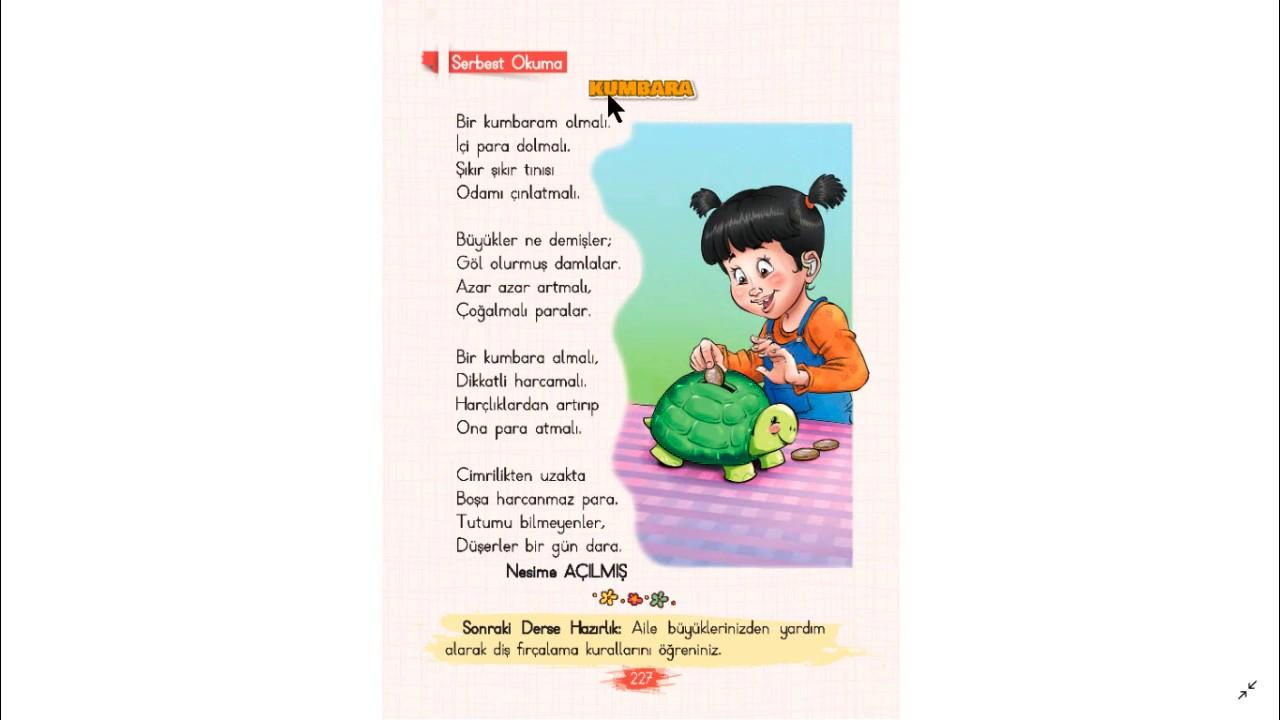 Kumbara ile ilgili şiir Serbest Okuma Metni