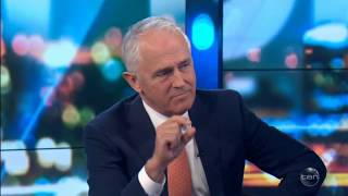 The Australian Prime Minister Malcolm Turnbull on The Project