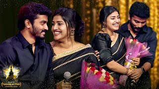 Sidhu & Shreya Anchan ROMANTIC Couple Dance on Stage! | Galatta Nakshatra Awards 2019