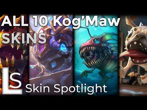 ALL KOGMAW SKINS - Skin Spotlight - League of Legends - Patch 10.8.1