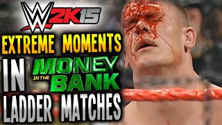 WWE 2K15 EXTREME MOMENTS In Money In The Bank Ladder Matches! (PS4)