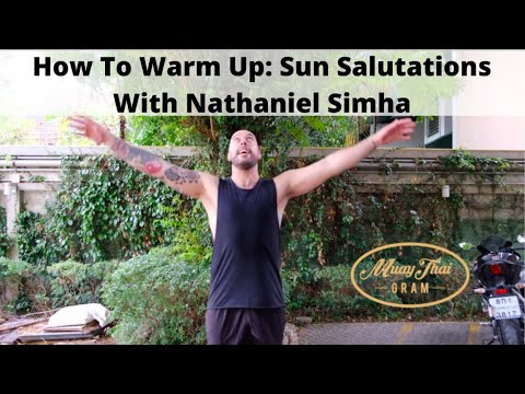how to warm up sun salutations with nathaniel simha  youtube