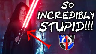 Why Evil Rey's swiss army double-bladed lightsaber is HORRIBLE - STAR WARS episode 9 trailer