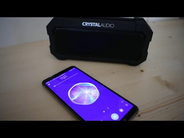 Review - Bluetooth φορητό ηχείο CRYTAL AUDIO SPLASH BS 08K