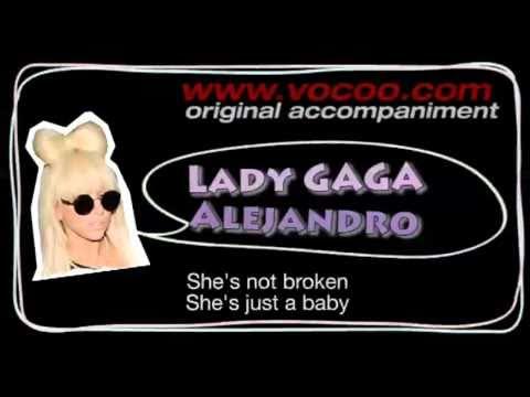 Lady gaga - Alejandro (Karaoke/original accompaniment / Instrumental / lyrics)