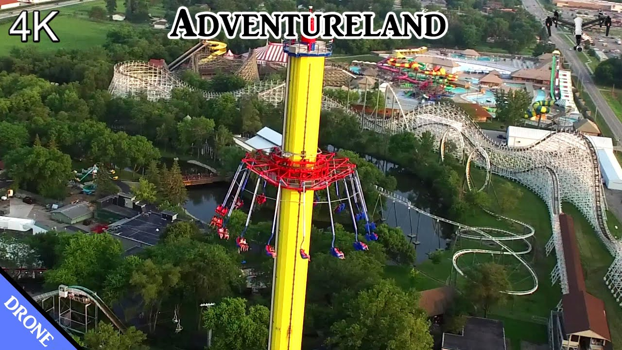 Adventureland Park In Des Moines Ia Drone Tour 4k Youtube