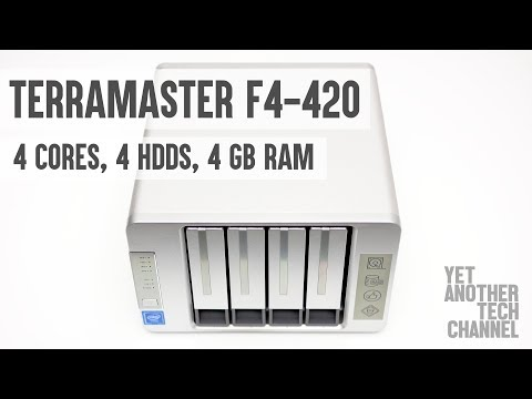 Terramaster F4-420 NAS server review - 4 HDDs, 4 x86 Intel cores, 4 GB RAM