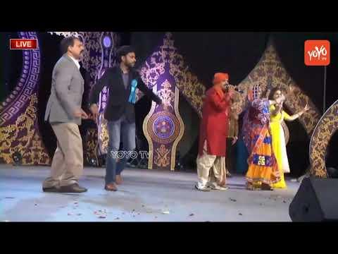 Mangli Dance Performance For Folk Song At American Telugu Convention   YOYO Cine Talkies