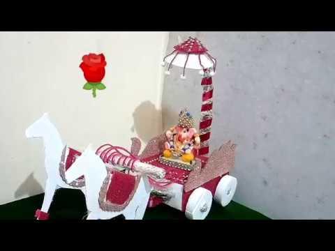 Ganpati Decoration/Ganpati decoration ideas for home Best out of waste/Ganpati Decoration Ideas 2019