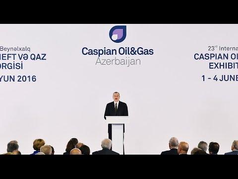 """İlham Əliyevin XXIII Beynəlxalq """"Xəzər Neft və Qaz 2016"""" sərgisinin açılışında nitqi"""