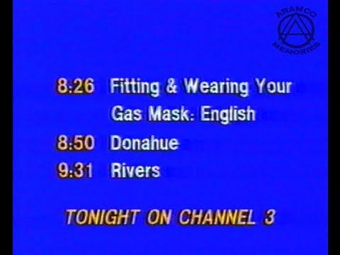 Aramco Channel 3 Gas Mask Fitting & Wearing (1991 Gulf War)