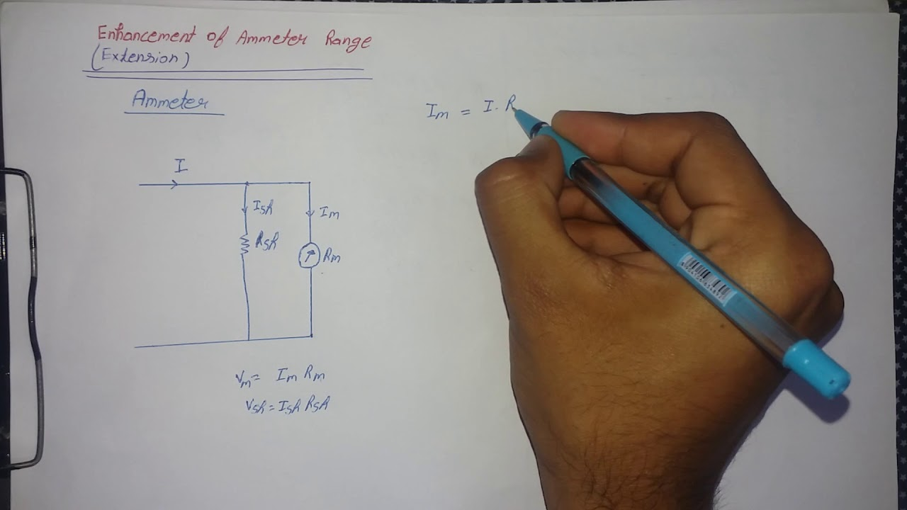 how to increase the range of ammeter with example hindi  [ 1280 x 720 Pixel ]